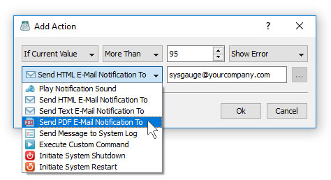 Sound and E-Mail Notifications
