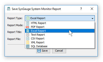 SysGauge Save System Monitoring Report